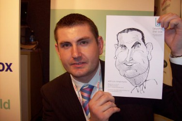 Offer free caricatures to potential customers