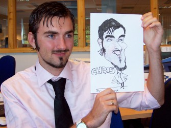 Hire a caricaturist for anniversaries