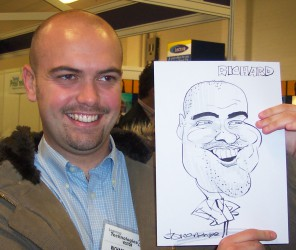 Hire a caricaturist for parties