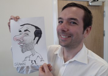 Caricatures as a giveaway