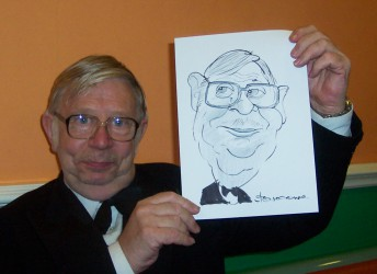 Caricaturist for hire for anniversary parties