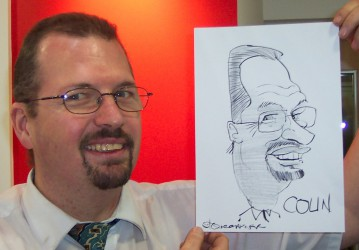 Caricaturist for hire for trade events