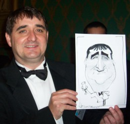 Caricatures at corporate awards events