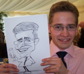 Caricatures can be a great ice-breaker at a wedding