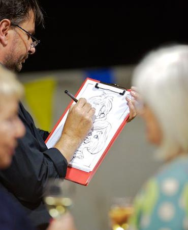 Caricaturist at work