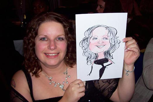 Example event caricature