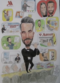 caricaturist london weddings parties
