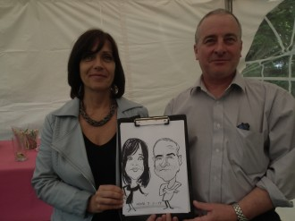 Caricaturist for hire Essex London Herts Sussex Kent
