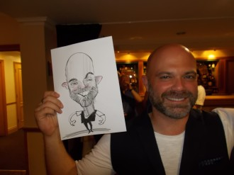 caricaturist for hire wedding corporate