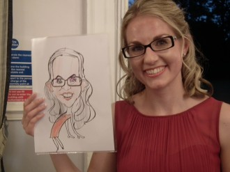 Caricaturist for hire weddings