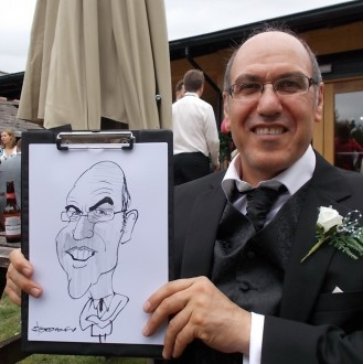 caricaturist for hire london area parties trade shows
